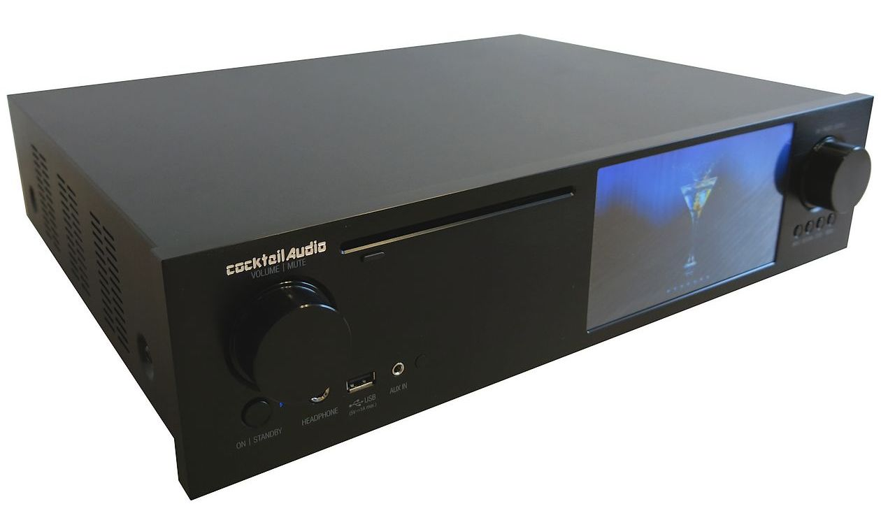 Cocktail Audio X35 Front in schwarz