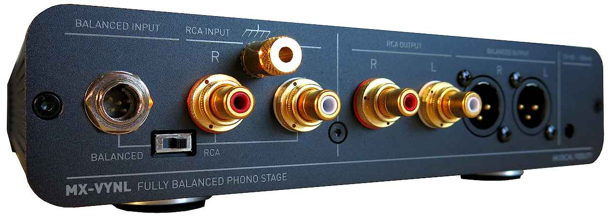 Musical Fidelity MX VYNL Phonovorstufe Rückseite Cinch XLR Anschlüsse