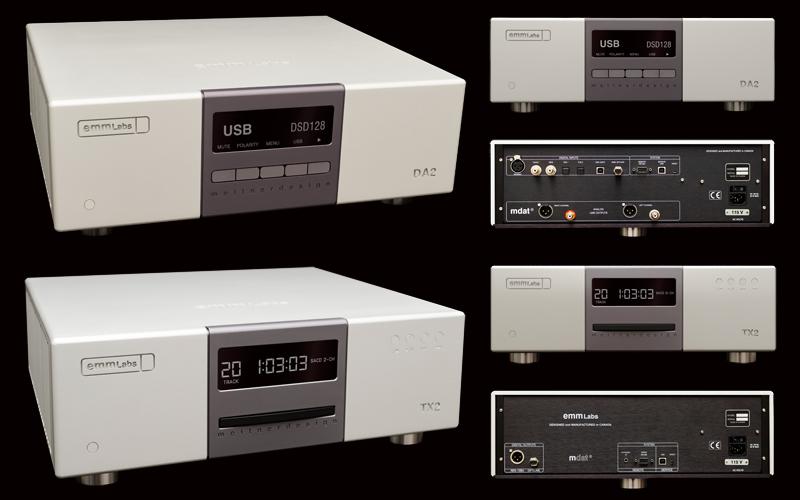 DAC und CD Laufwerk von Meitner DA 2 und TX 2