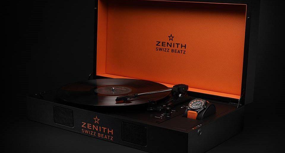 Zenith Defy Classic 41mm Swizz Beatz Limited Edition in Plattenspieler-Box