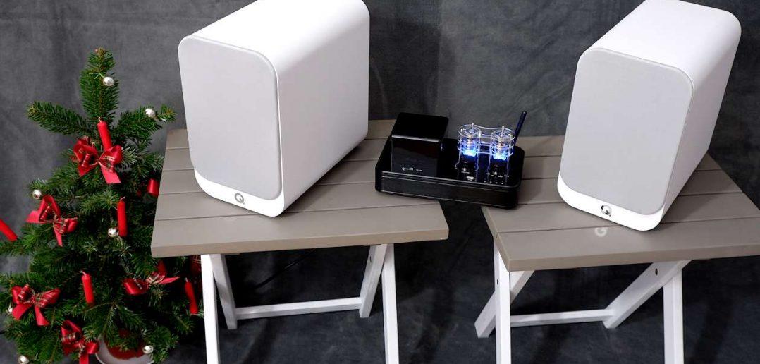Röhrenvollverstärker Dynavox VR-400 mit kompakten Lautsprechern Q-Acoustics 3020i