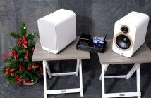 Röhrenvollverstärker Dynavox VR-400 mit kompakten Lautsprechern Q-Acoustics 3020i zu Weihnachten als Geschenk