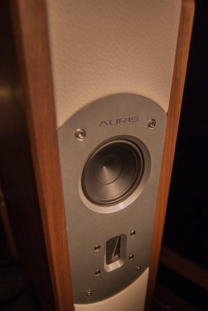 Holz - Leder Metal: aufregender Materialmix beim Auris Poison 8 Lautsprecher