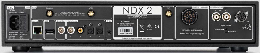 Naim NDX 2 - Rückseitige Anschlüsse