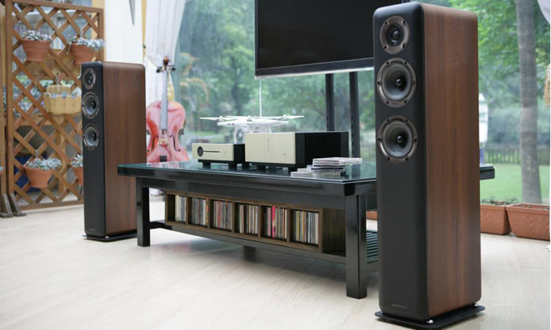 Wharfedale D300 Einsteiger Lautsprecher im Wohnzimmer