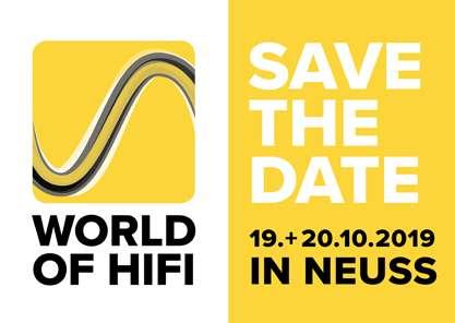 Logo der World of HiFi in Neuss 2019