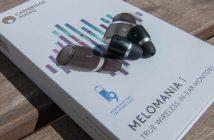 Test-Bluetooth-Kopfhörer Cambridge Audio Melomania 1 auf ihrer Verpackung