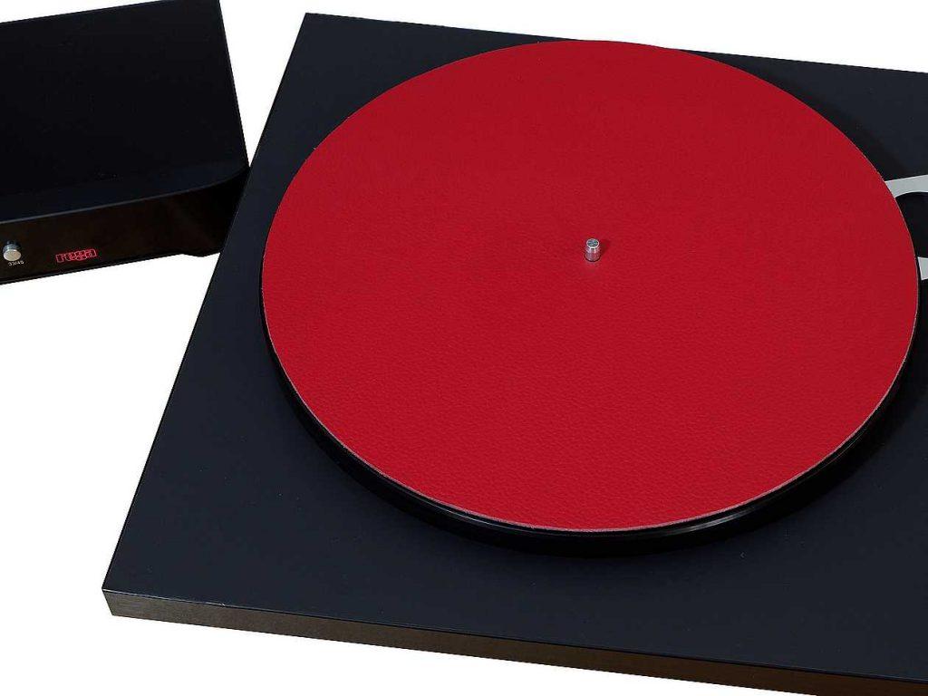 levin design schallplattenauflage mit plattenspieler rega planar 6