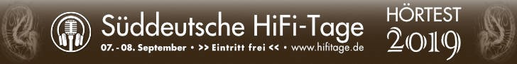 Logo der Süddeutschen HiFi-Tage / HiFi-Messe 2019 in Stuttgart