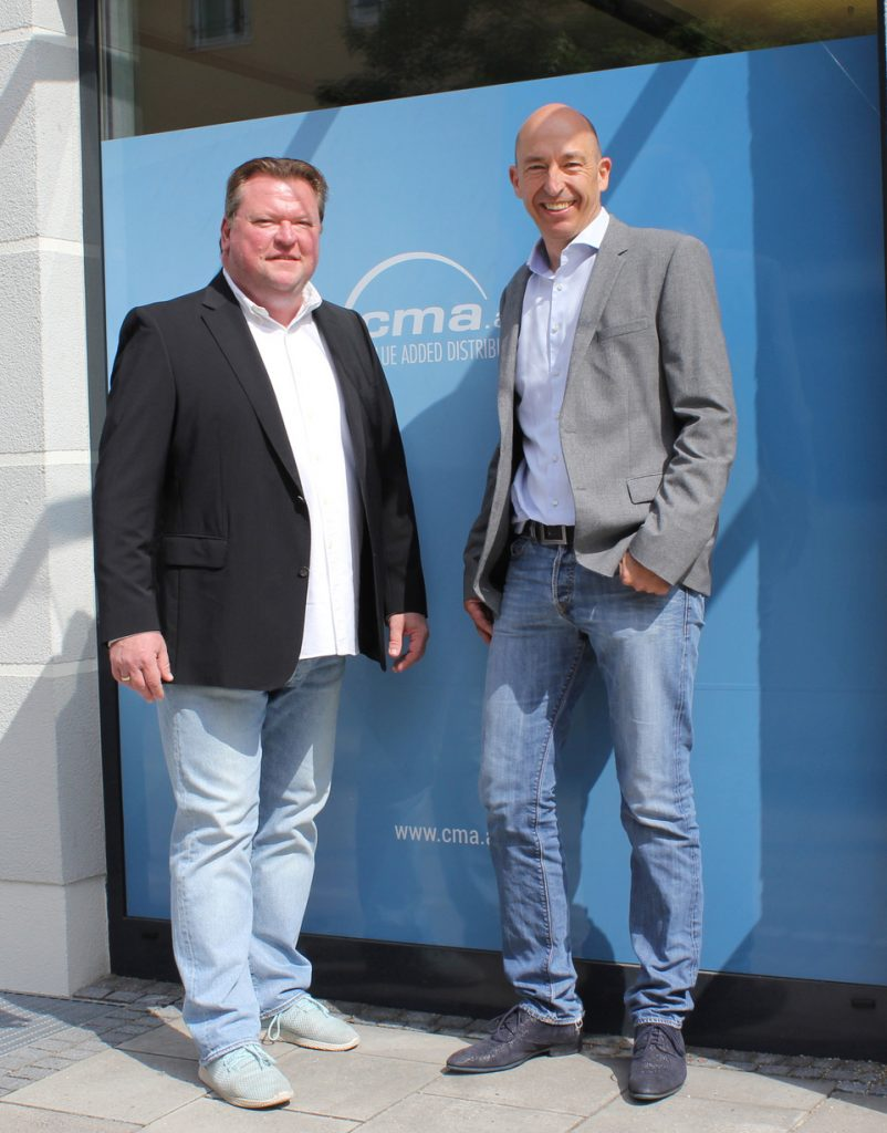 Im Bild: cma audio CEO Christof Mallmann und der neue Head of International Sales Michael Zirkel