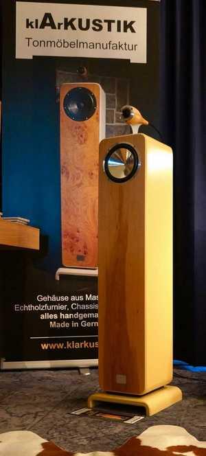 Standlautsprecher Klarkustik auf den Süddeutschen HiFi-Tagen 2019 in Stuttgart