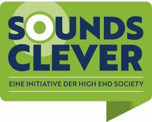 "Logo ""Sounds Clever"" der High End Society"