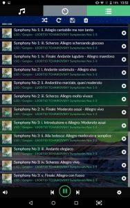 VOLUMIO Primo HiFi Screenshots Musik Titelliste Tschaikowsky