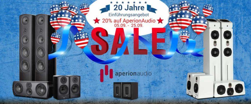 Aperion Audio Lautsprecher mit 20 % Rabatt zur Markteinführung in Deutschlans