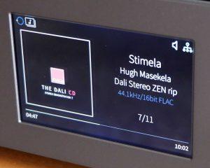 5 Zoll TFT Display des Netzwerkspieler / Streamer / Vorverstärker Cambridge Audio NQ