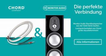 Die beste Verbindung: Chord HiFi-Kabel und Monitor HiFi-sowie High End Lautsprecher