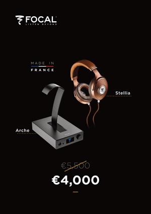 Im Angebot: Der Kopfhörerverstärker Focal Arche sowie der High End Kopfhörer Focal Stellia
