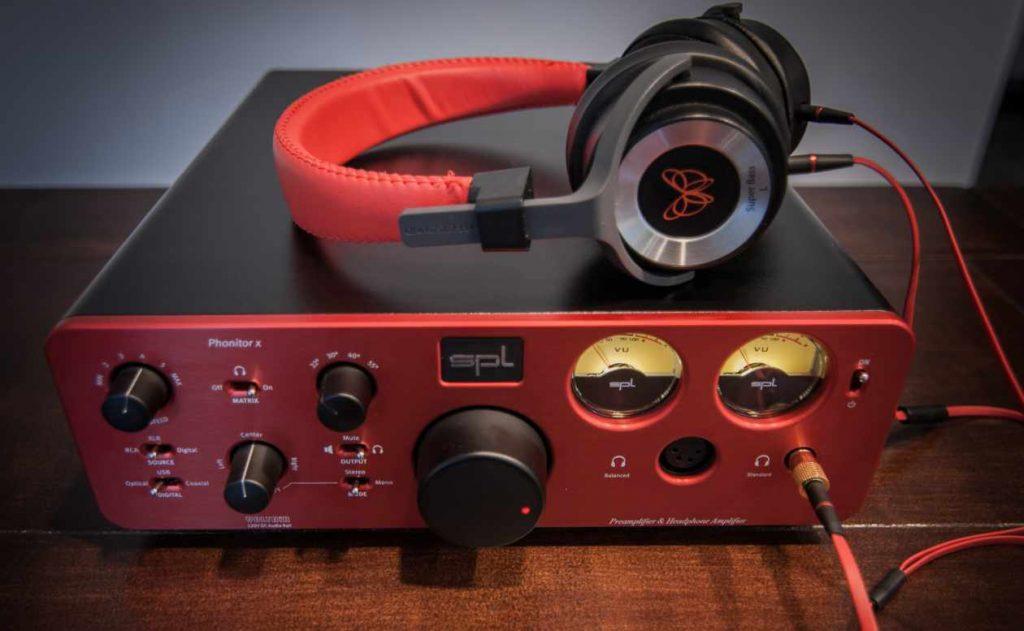 SPL Phonitor x im Kopfhörerbetrieb mit dem Pure Sound M1