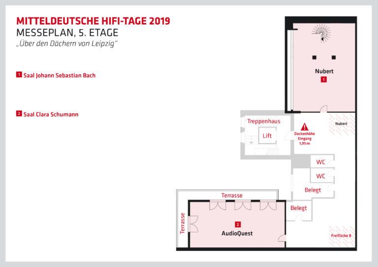 Mitteldeutsche HiFi-Tage. Ausstellerplan Fünftes Obergeschoss