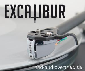 Plattenspieler MM- und MC Excalibur Tonabnehmer von TAD