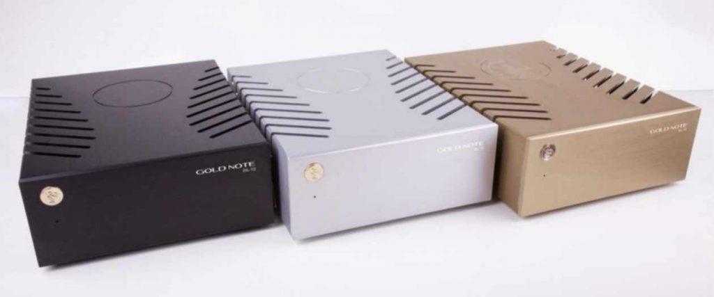 Kompakter Stereo Endverstärker Goldnote PA-10 in den Farben Schwarz, Gold oder Silber