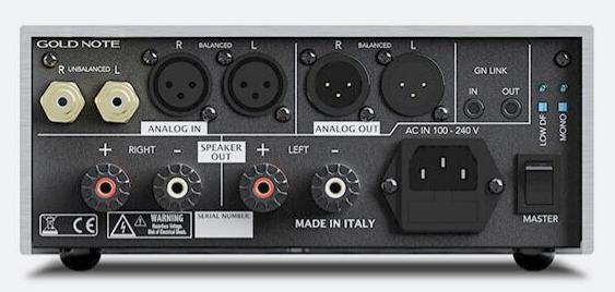Anschlüsse des neuen Stereo Endverstärker Goldnoge PA-10