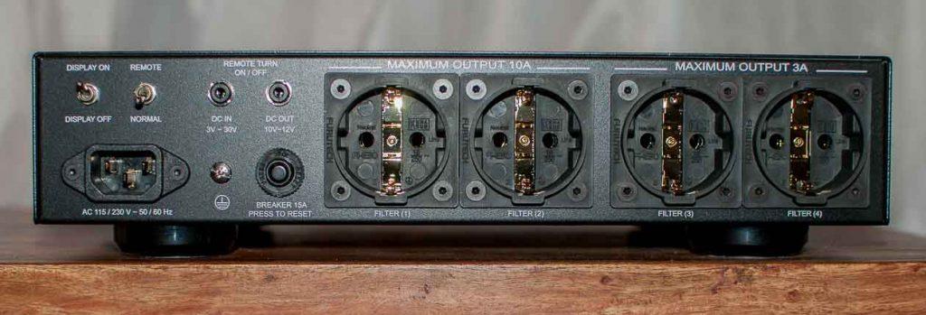 NuPrime AC-4 Power Conditioner -Rückseite