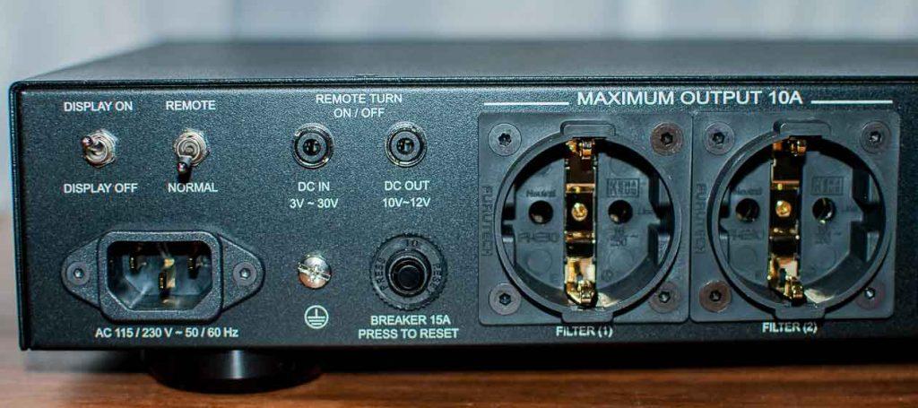 NuPrime AC-4 Power Conditioner - Anschlüsse und Schalter