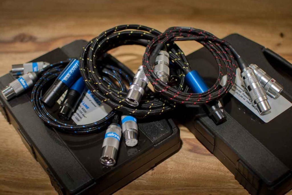 WSS-Kabel-Trio: Platin-Line KS-20, Gold-Line KS-20, Premium-Line KS-200 mit Oyaide Focus 1 (Foto: F. Visarius)