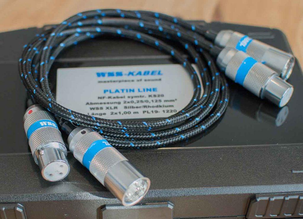WSS Platin-Line KS-20 mit WSS XLR-Silver/Rhodium-Steckern (Foto: F. Visarius)