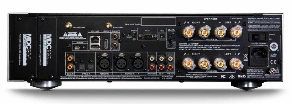 Anschlüsse des Streaming Vollverstärker NAD M33
