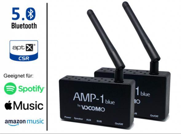 Neuheit: Vocomo Bluetooth Verstärker mit Apt X zum Andocken an passive Lautsprecher