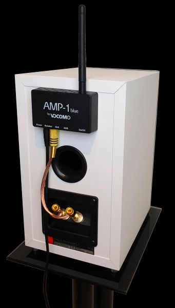 Vocom Bluetooth Verstärker an passivem Lautsprecher