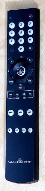 Fernbedienung des Streamer-Vorverstärker Gold Note DS-10