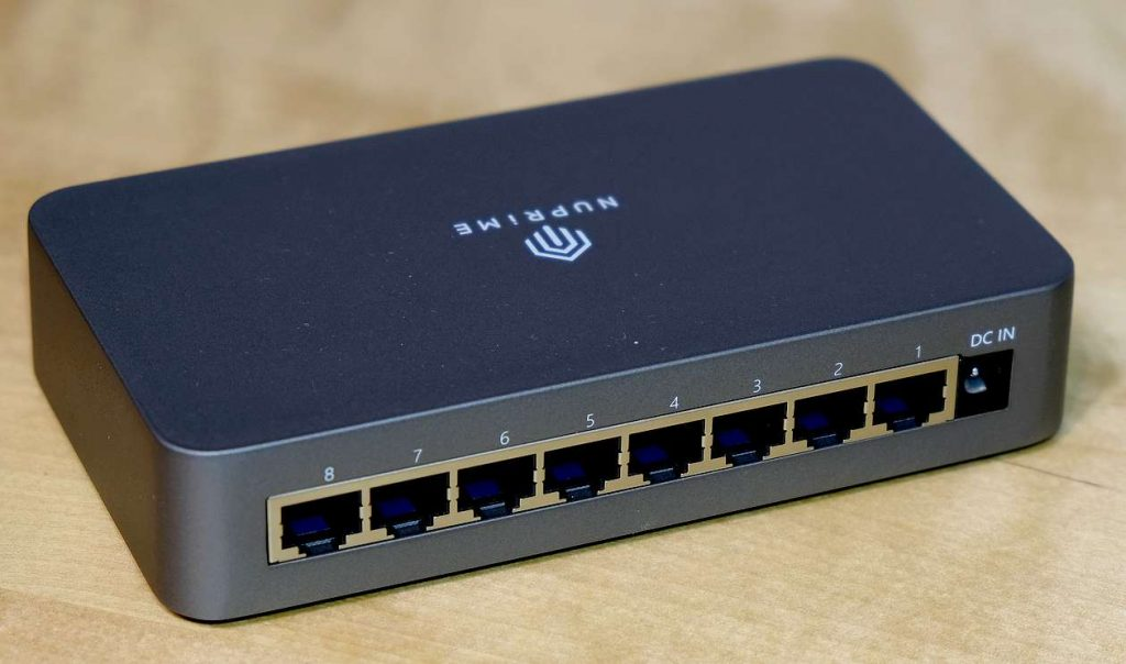 LAN-Anschlüsse des HiFi-Switch NuPrime SW-8