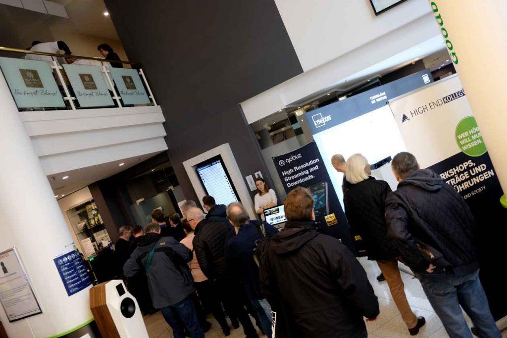 HiFi-Messe NDHT 2020 in Hamburg. Hier der Eingangsbereich.