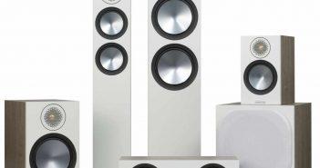Die neuen Monitor Audio Bronze 6G Lautsprecher. Im Bild Kompaktlautsprecher, Standlautsprecher und Center