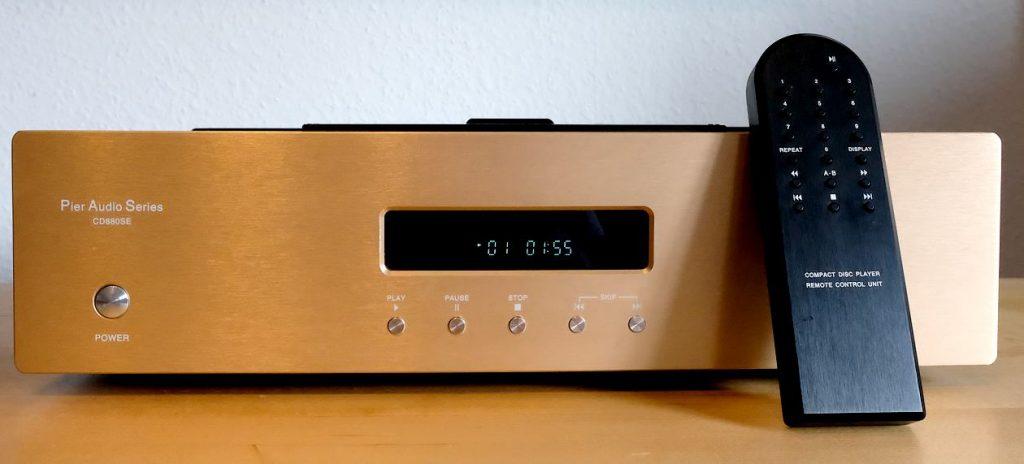 """Im Test der CD-Spieler """"Pier Audio CD 880 SE"""" mit Röhren-Ausgang-Stufe und Fernbedienung"""