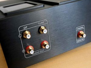Transistor- Röhren- und Koaxial-Ausgang am CD-Spieler Pier Audio CD-880 SE