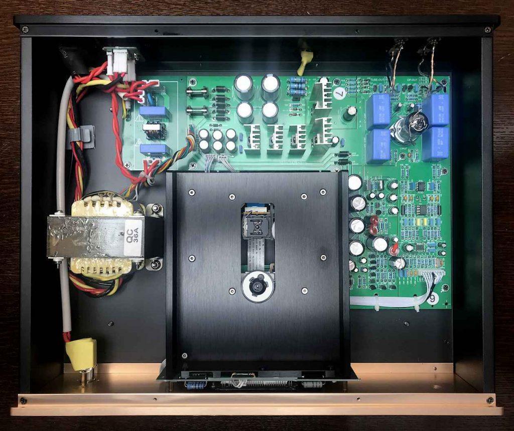 Trafo, Laufwerk und D/A-Wandler des Pier Audio CD 880 SE