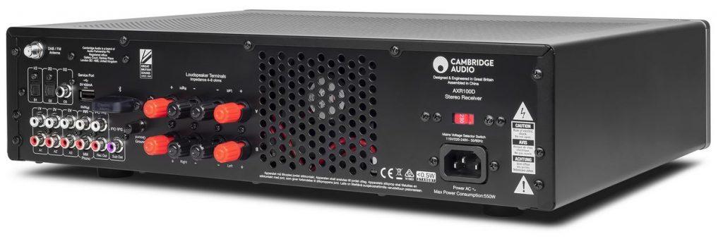 Der neue HiFi-Vollverstärker Cambridge Audio AXR100D mit DAB+ und Phono MM-Eingang