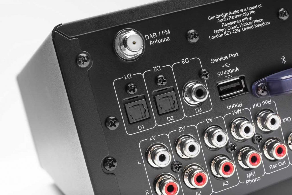 Phono MM-Eingang am neuen Cambridge Audio AXR100D Vollverstärker