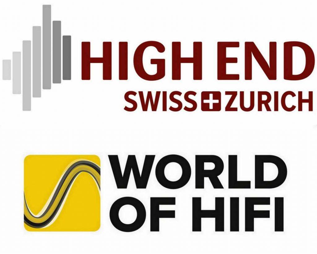 """Logo der beiden HiFi-Messen """"High End Swiss"""" und """"World Of HiFi"""""""