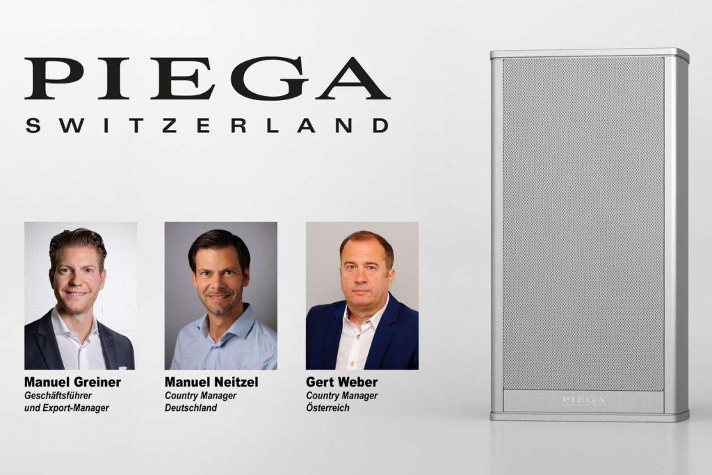 Neuer Vertrieb von Piega für Deutschland, Österreich und die Schweiz