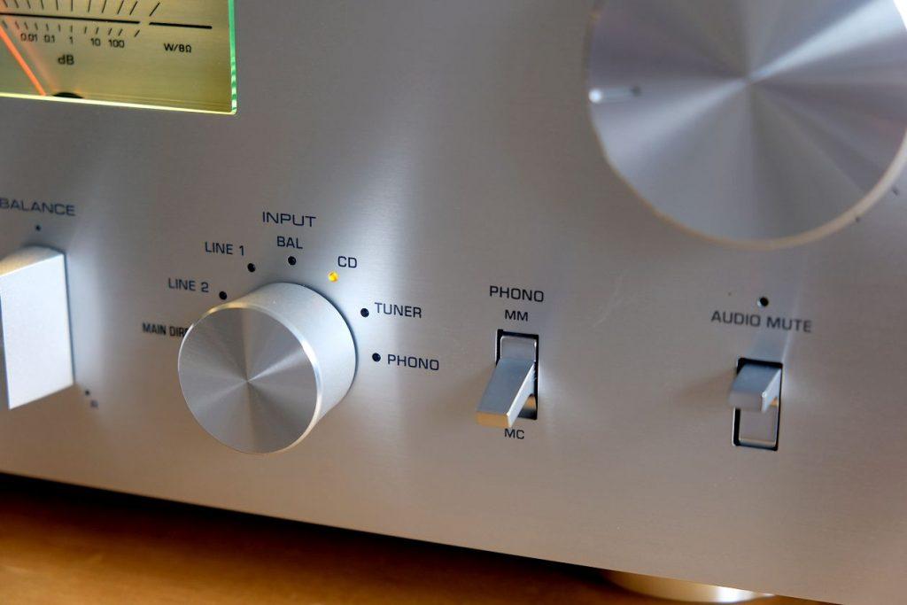 Phono MM- und MC- Eingang am Yamaha A-S2200