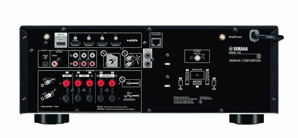 Anschlüsse des Yamaha RX-V4A