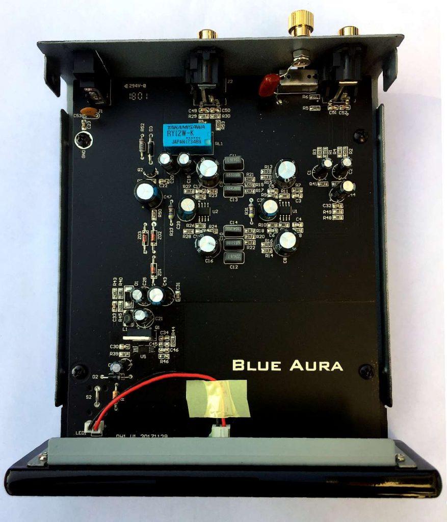 Die Platine des MM- und MC- Phono-Vorverstärker Blue Aura PG 1