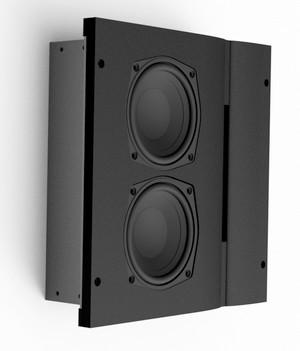 Aktiver Surround-Lautsprecher für den In-Wall Einbau von Gegentakt