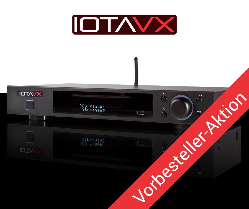 Im Bild der neue Streaming-Verstärker IOTAVX NP3 mit CD-Player und Vollverstärker