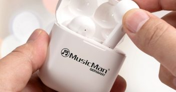 Im Bild der neue Bluetooth In-Ear-Kopfhörer Music Man TWS 52 mit Geräuschunterdrückung